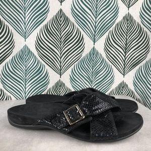 Vionic Women's Dorie Slide Sandal Black Snake